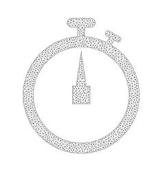 Mesh stopwatch icon vector