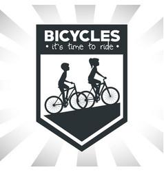 Modern bike shop logo vector
