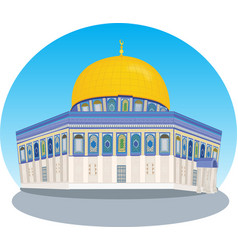 Mousque of al-aqsa in old town - jerusalem vector