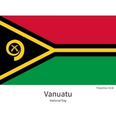 National flag of Vanuatu with correct proportions vector