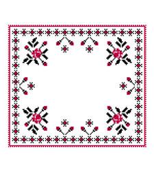 Of ukrainian folk seamless pattern vector