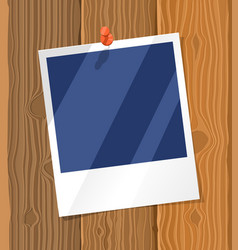 photo frame on wood texture vector image