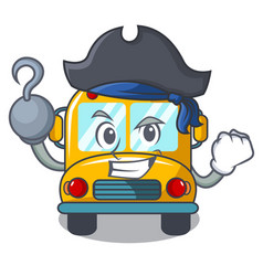 Pirate school bus character cartoon vector