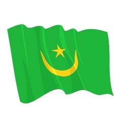 Political waving flag mauritania vector