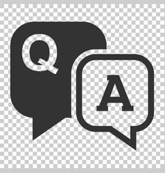 question and answer icon in flat style discussion vector image