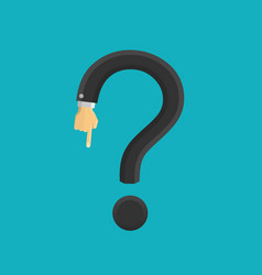question mark hand vector image