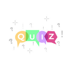 quiz vector image