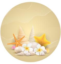 round starfish banner vector image