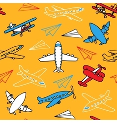 Seamless pattern of aircraft vector image