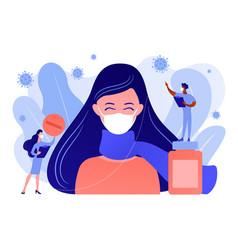 Seasonal flu and coronavirus concept vector