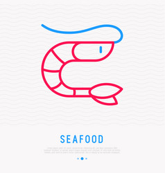 shrimp thin line icon vector image