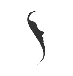 Side face profile silhouette initial s graphic vector