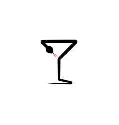snake poison glass pharmacy icon logo vector image