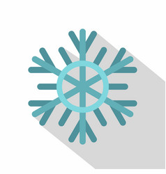 Snowflake icon flat style vector