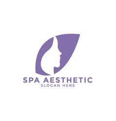 Spa aesthetic logo icon design template vector