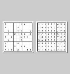 Sudoku with the answer game vector