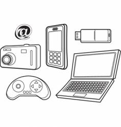 Technology products vector