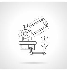 Telescope flat line design icon vector
