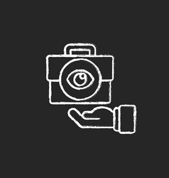 Transparent chalk white icon on black background vector