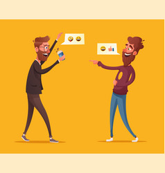 two friends or colleagues having fun vector image