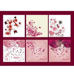valentines cards vector image