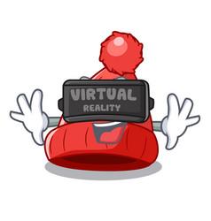 virtual reality photo of a cartoon woolen beanie vector image