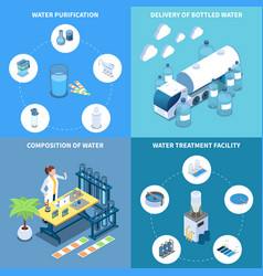 water purification isometric design concept vector image