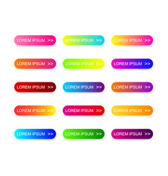 web buttons design with colorful trendy gradient vector image