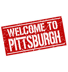 Welcome to pittsburgh stamp vector