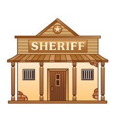 Wild west sheriffs office vector