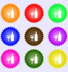 Wine Icon sign Big set of colorful diverse vector