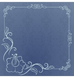 blue background with frame vector image