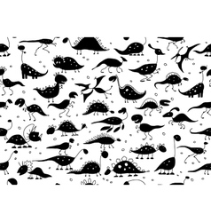 Funny dinosaurs seamless pattern for your design vector image vector image