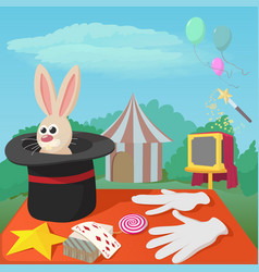 magician tools concept cartoon style vector image vector image