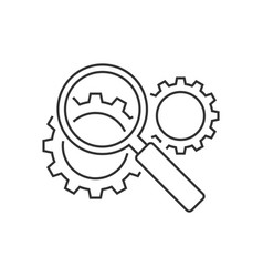 search engine optimization line icon vector image vector image