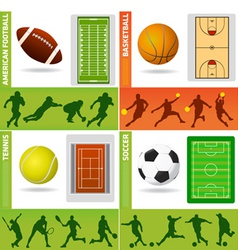 sport field ball and design vector image