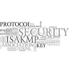 what is isakmp text word cloud concept vector image vector image