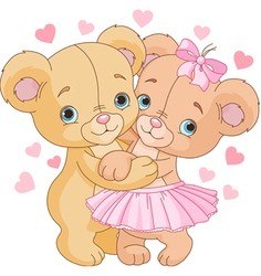 1Teddy bears in love vector image vector image