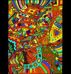 beautiful decorative psychedelic hippie vector image vector image