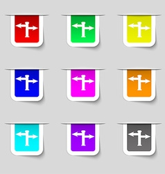 Blank Road Sign icon sign Set of multicolored vector image