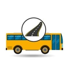 highway bus transport public vector image