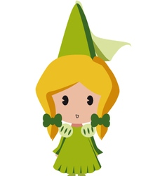 isolated princess vector image vector image
