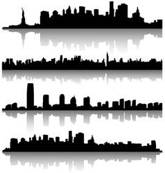 New york city silhouette vector