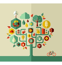 Sustainable life tree vector image