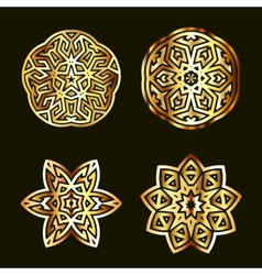 Ancient arabian motif vector image vector image