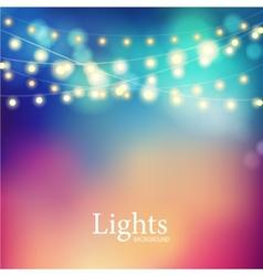 Bokeh garland lights vector image vector image