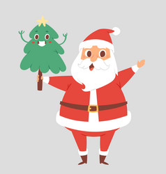 christmas santa claus character pose with vector image vector image