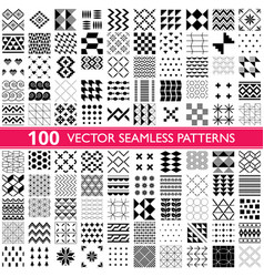 100 saemless patterns - big set different vector image