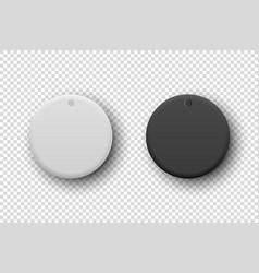 3d realistic white and black plastic knob vector