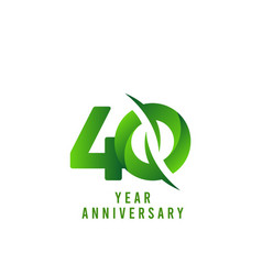 40 years anniversary green celebration template vector
